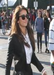 Nina Dobrev - on the Set of Extra - Universal Studios - Jan. 2014