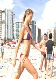 Olga Kent Bikini Photos - Beach in Miami - January 6 2014