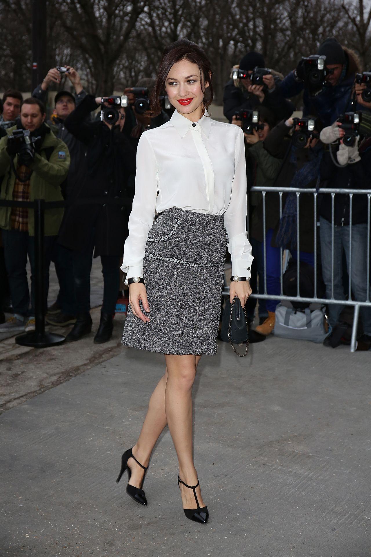 Olga Kurylenko At Chanel Fashion Show In Paris January 2014