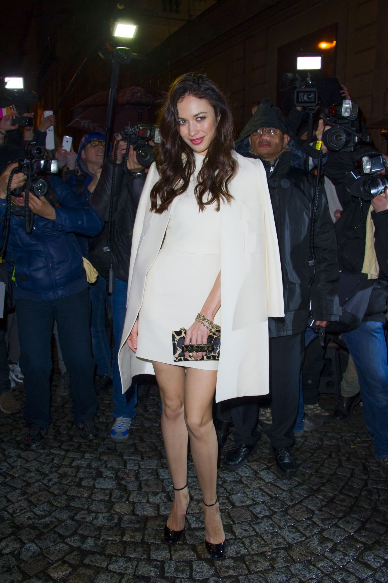 Olga Kurylenko - Valentino Fashion Show in Paris, January 2014