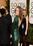 Olivia Wilde at 71st Annual Golden Globe Awards Red Carpet (2014)