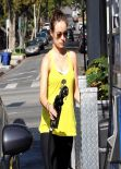 Olivia Wilde Street Style - at a gas station in West Hollywood - January 2014