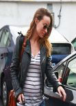 Olivia Wilde Street Style - Out for Lunch in Los Angeles - January 2014