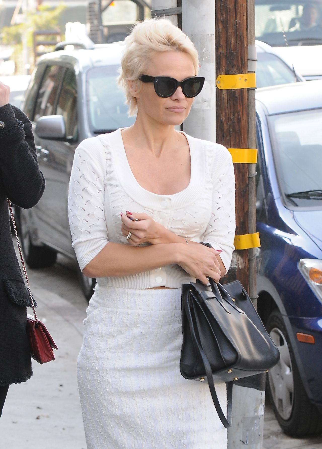 Pamela Anderson Street Style - Out in Los Angeles - January 2014