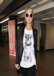 Paris Hilton at LAX Airport - January 2014
