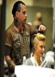Paris Hilton At Meche Hair Salon In Los Angeles - January 2014