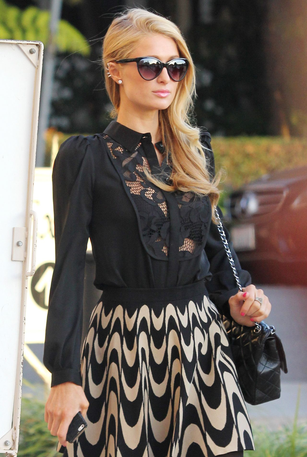 Paris Hilton Street Style - Shopping at Barneys of New York in Beverly Hills