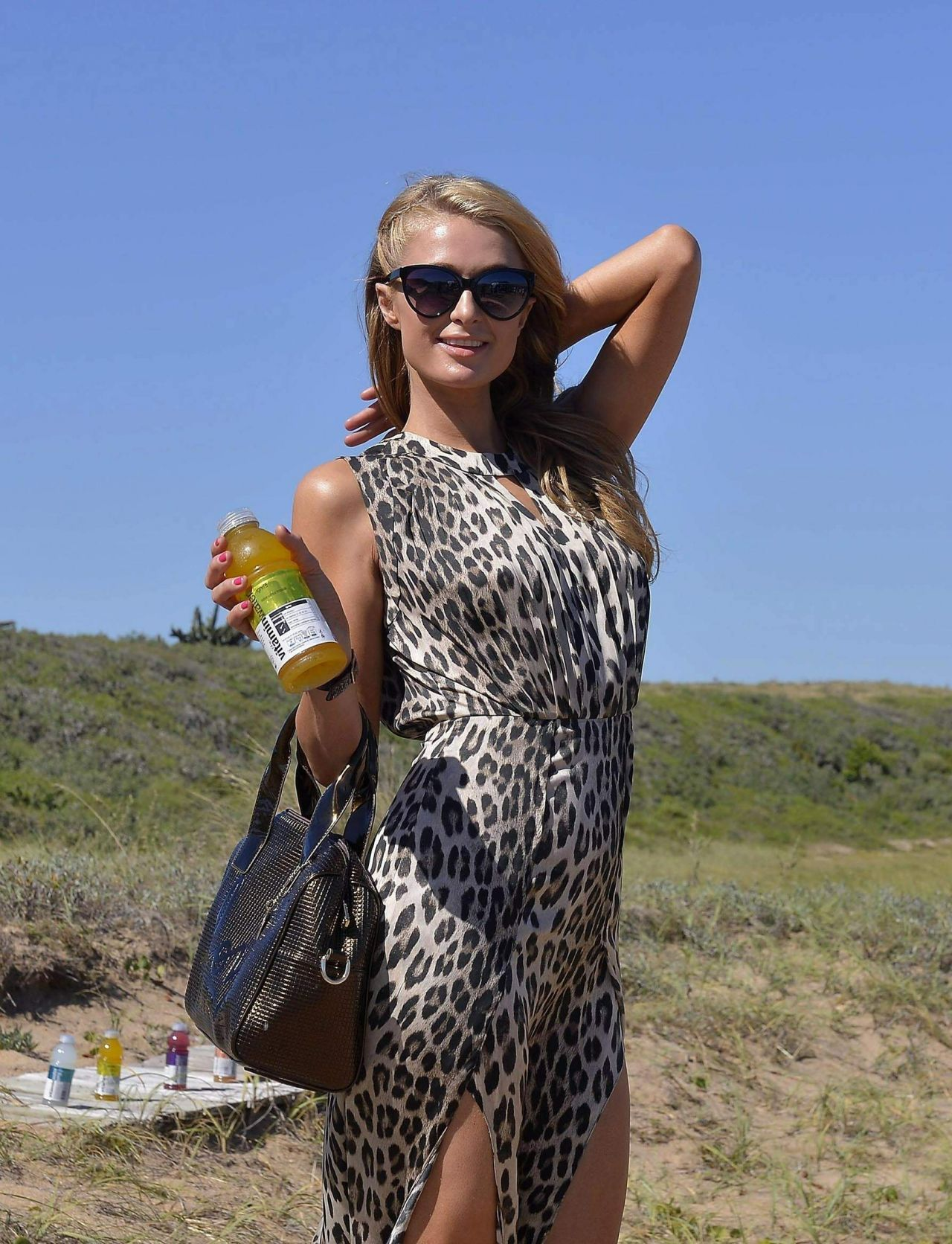 Paris Hilton Visits Uruguayan Beach Resort Punta Del Este