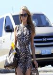 Paris Hilton Visits Uruguayan Beach Resort Punta del Este - January 2014