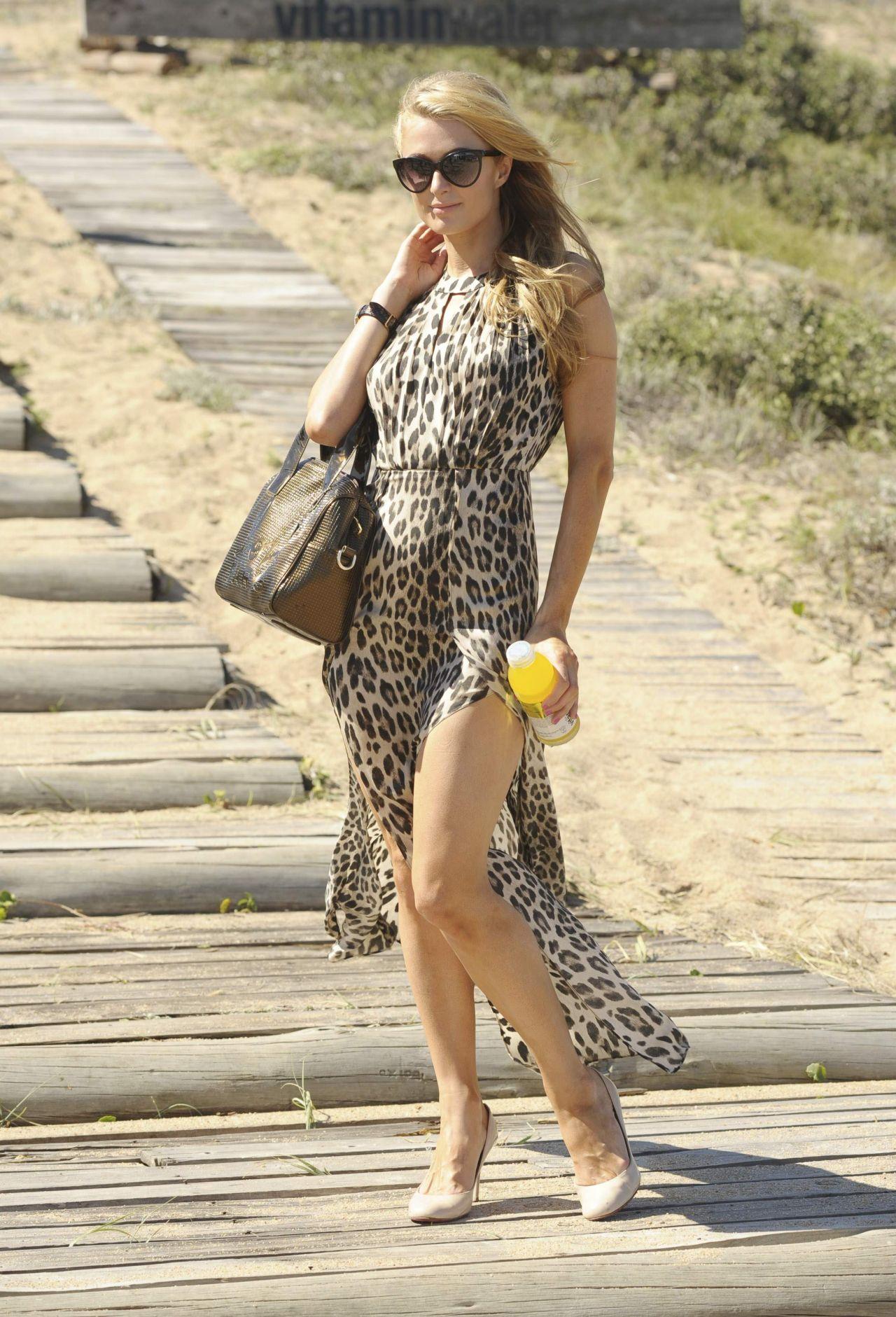 Paris Hilton Visits Uruguayan Beach Resort Punta Del Este