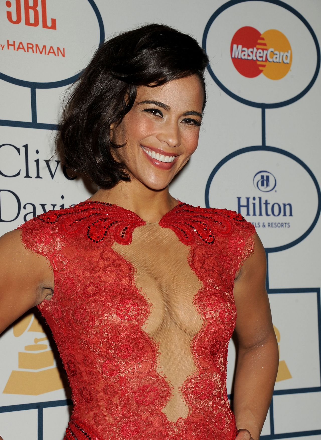 paula patton pregrammy gala in los angeles � january 2014