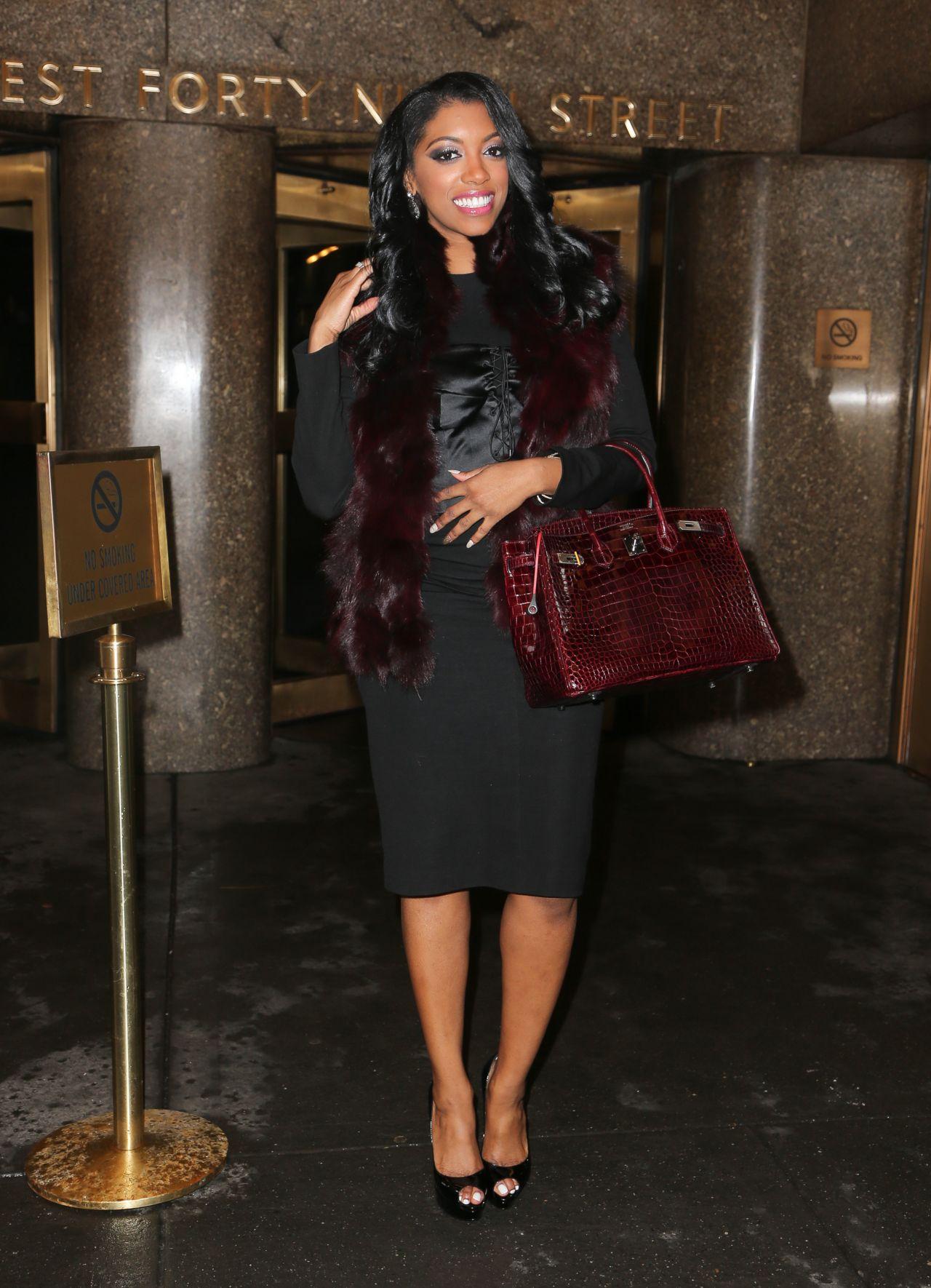 Porsha Williams Style Leaving The Nbc Studios In New