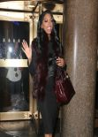 Porsha Williams Style - Leaving the NBC Studios in New York City - Jan. 2014
