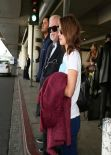Rachel McAdams Street STyle - LAX Airport, January 2014