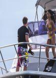 Rihanna Bikini Candids - on Yacht in Rio de Janeiro, January 2014