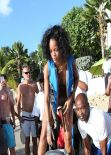 Rihanna in a Bikini - 173 Photos from the Beach in Barbados (Dec. 2013)