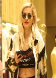 Rita Ora Candids - Goes for a Shopping Spree Beverly Hills - January 2014