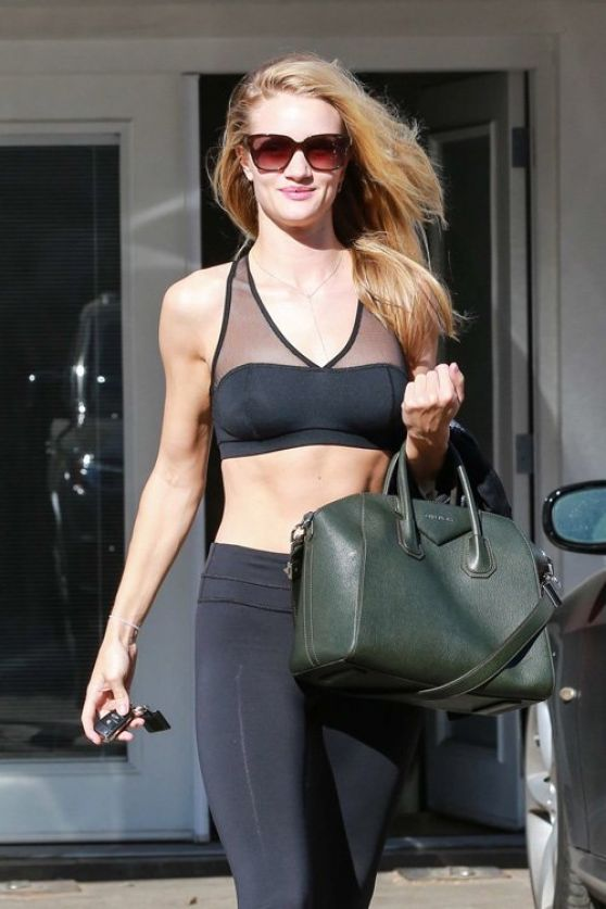 Rosie Huntington - Whiteley Gum Style - Leaving the Gym in West Hollywood - January 2014