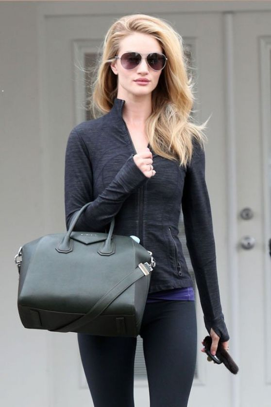 Rosie Huntington-Whiteley Style - Leaving the Gym - Los Angeles, January 2014