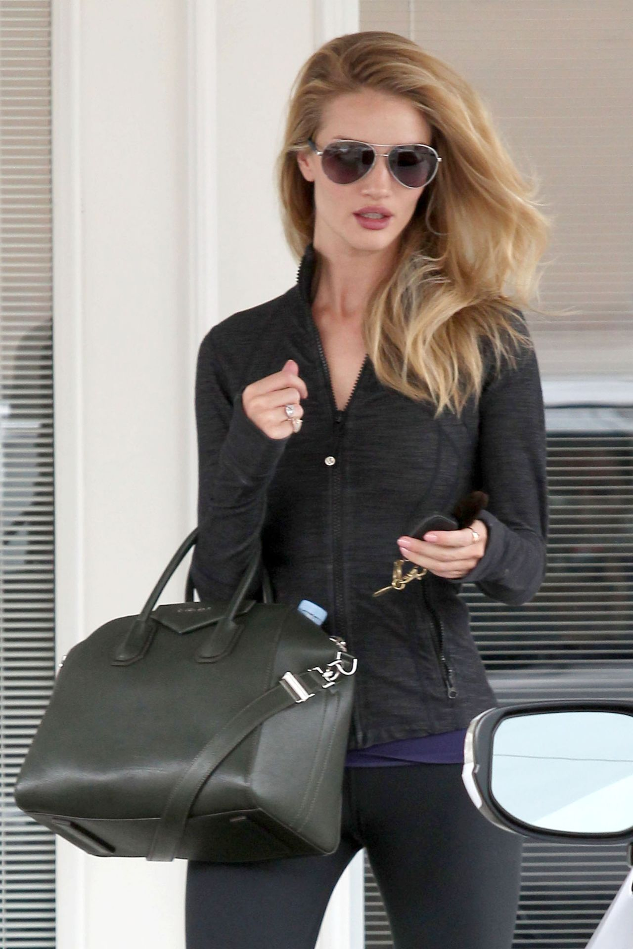 Rosie Huntington Whiteley Style Leaving The Gym Los