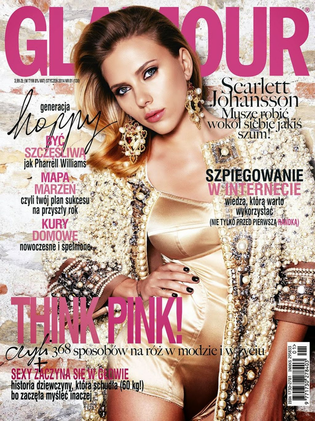 Scarlett Johansson - GLAMOUR Magazine (Poland) - January 2014 Cover
