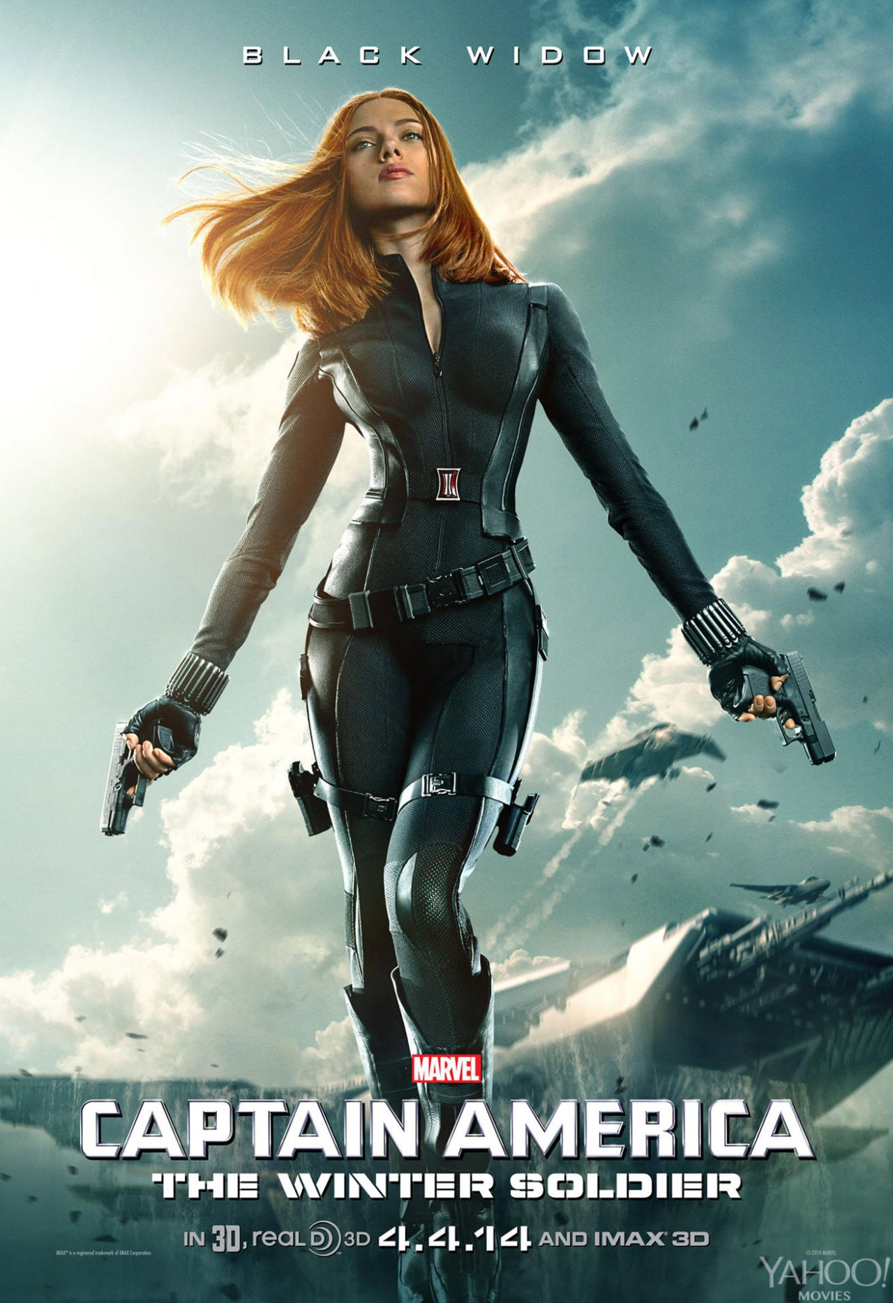Scarlett Johansson - New CAPTAIN AMERICA: WINTER SOLDIER Poster