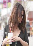 Selena Gomez Street Style - in a Shredded Shirt - January 2014