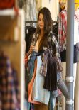 Selena Gomez Street Style - Shopping With a Friend in Studio City - January 2014