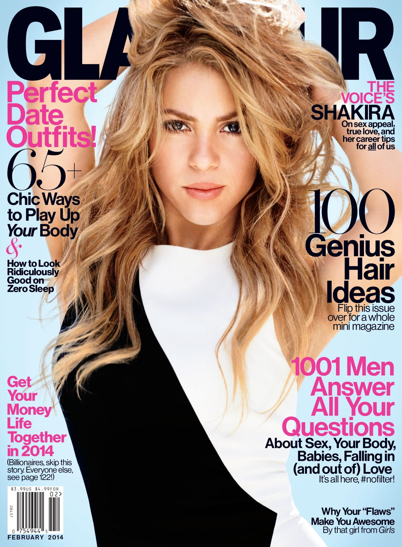Shakira – GLAMOUR Magazine – February 2014 Issue