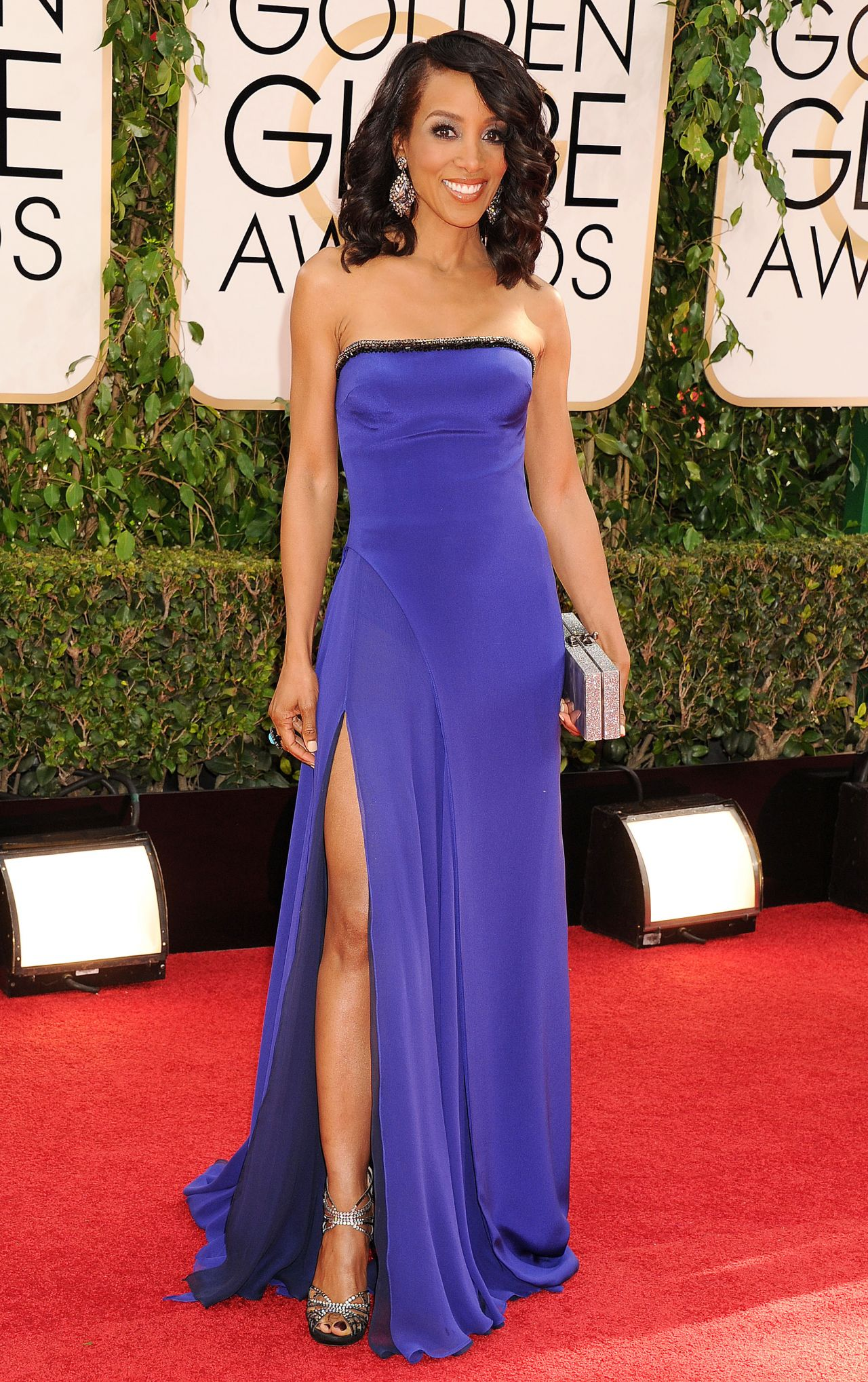Shaun Robinson at Golden Globe Awards 2014