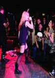Skye Sweetnam Wears Leather Short Shorts At Sumo Cyco Gig - Club Absinthe - Hamilton, Ontario, Canada January 2014