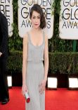 Tatiana Maslany Wears Jenny Packham at 2014 Golden Globe Awards