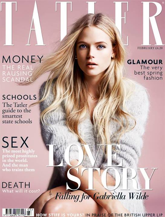 Gabriella Wilde - TATLER Magazine - February 2014 Issue