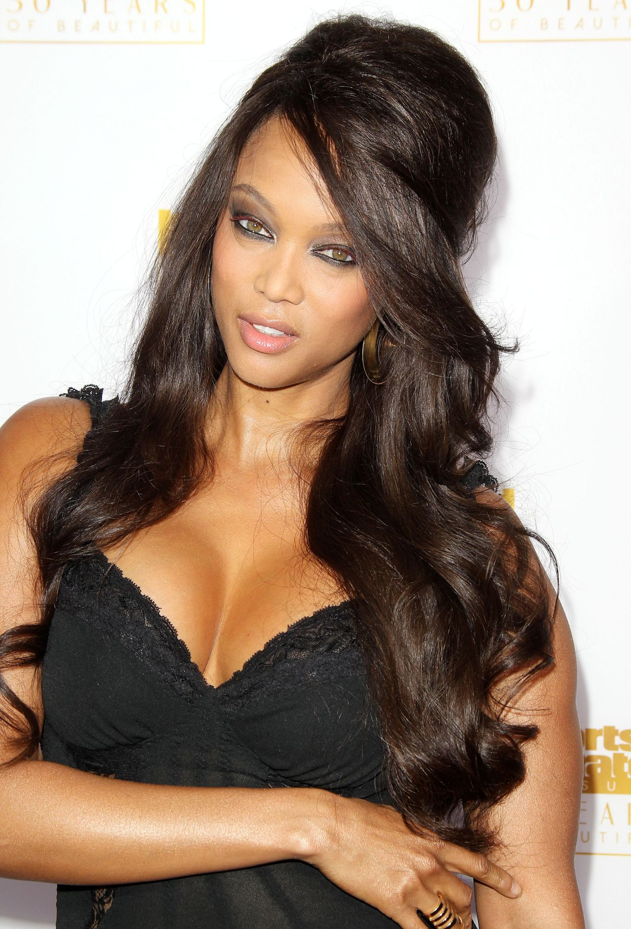 Tyra Banks - 50th Anniversary of the SI Swimsuit Issue Celebration in Hollywood, January 2014