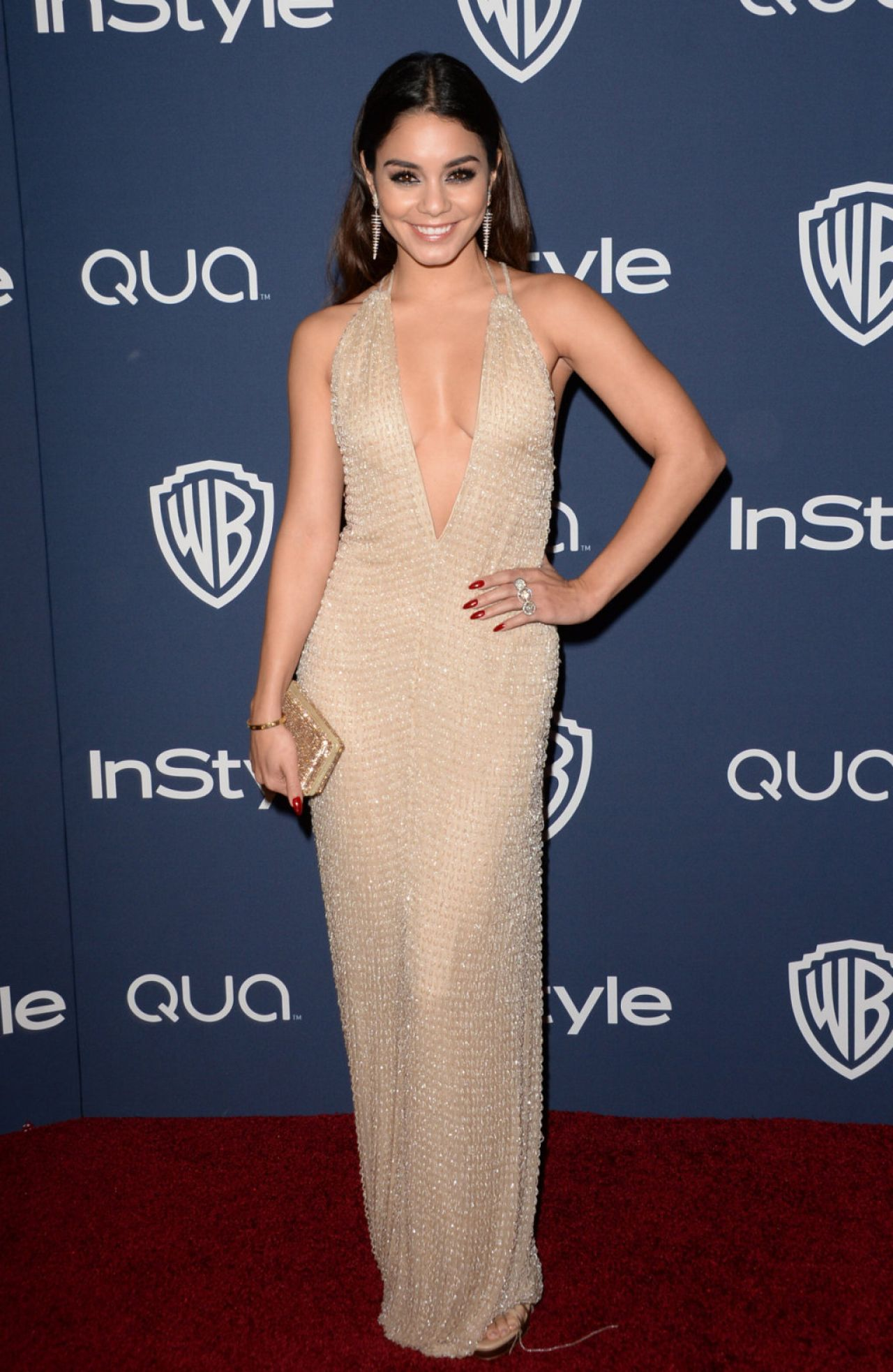 Vanessa Hudgens - InStyle & Warner Bros. 2014 Golden Globes Party in Beverly Hills