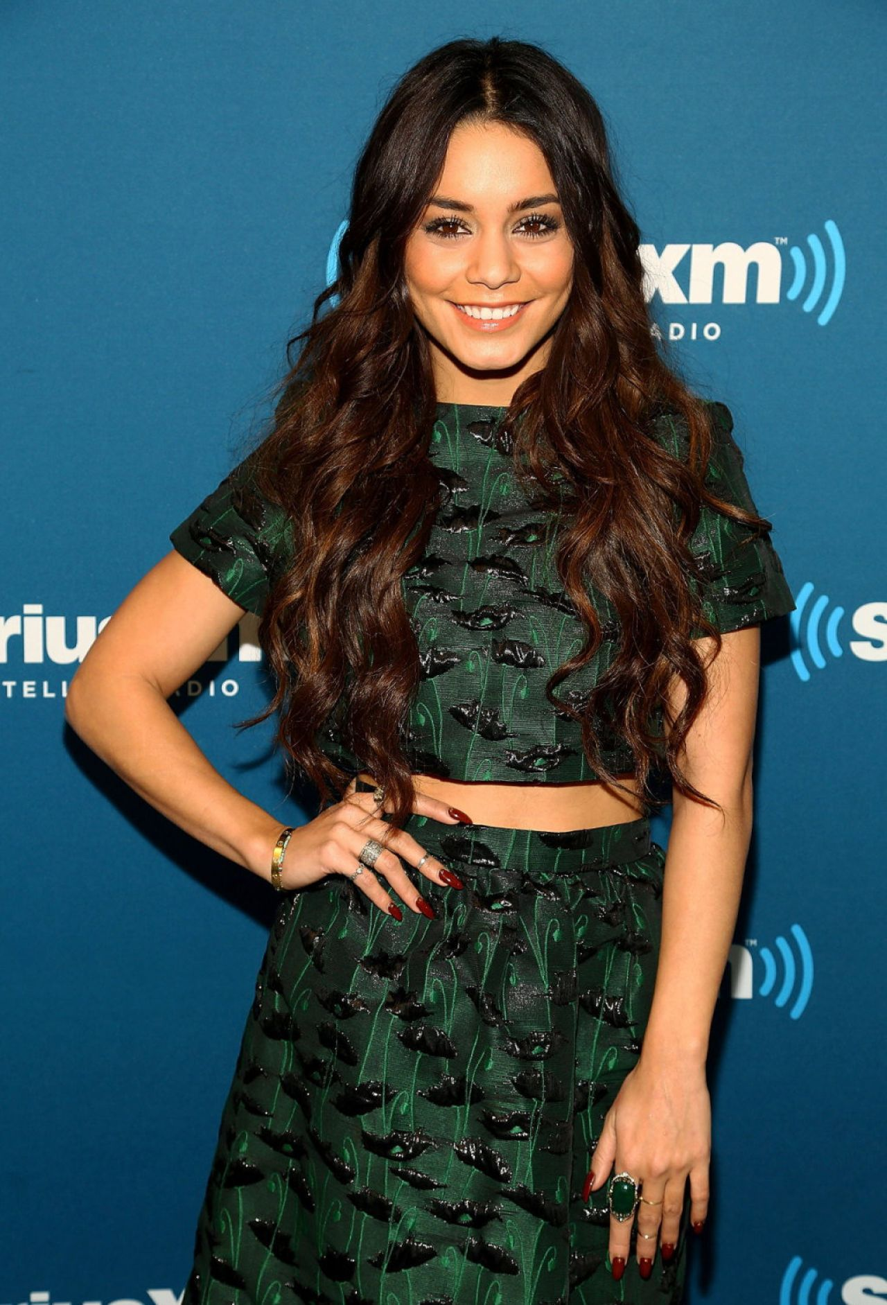 Vanessa Hudgens - SiriusXM Studio in New York, January 2014