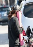 Vanessa Hudgens Street Style - in Tights in Studio City - January 2014