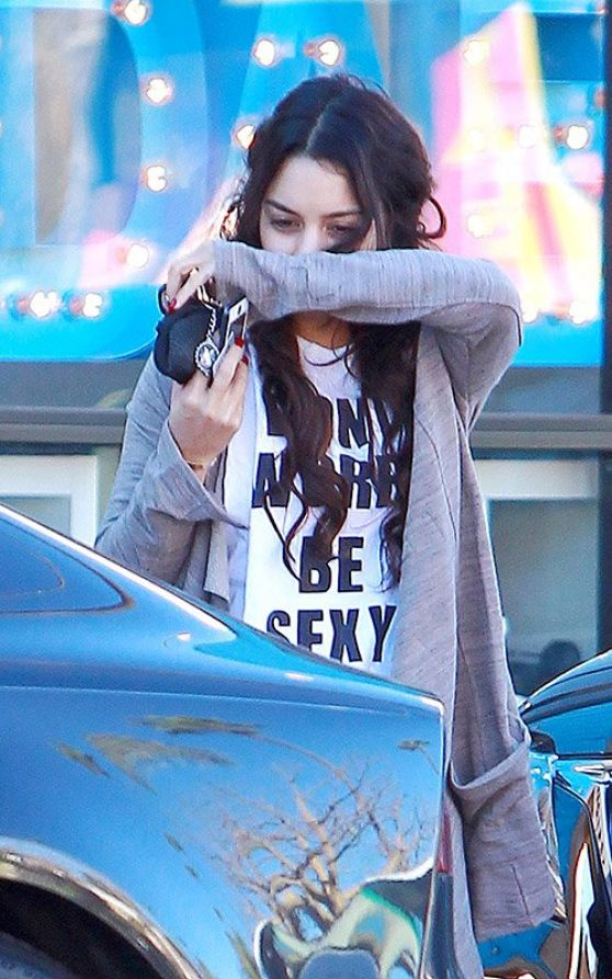 Vanessa Hudgens Street Style - Leaving the Gym, January 2014
