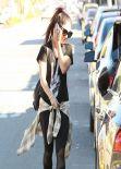 Vanessa Hudgens Street Style - Leaving the Gym - LA January 2014