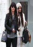 Vanessa Hudgens Street Style - Shopping in Beverly Hills - January 2014