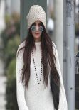 Vanessa Hudgens Street Style - Shopping in Beverly Hills - January 2014