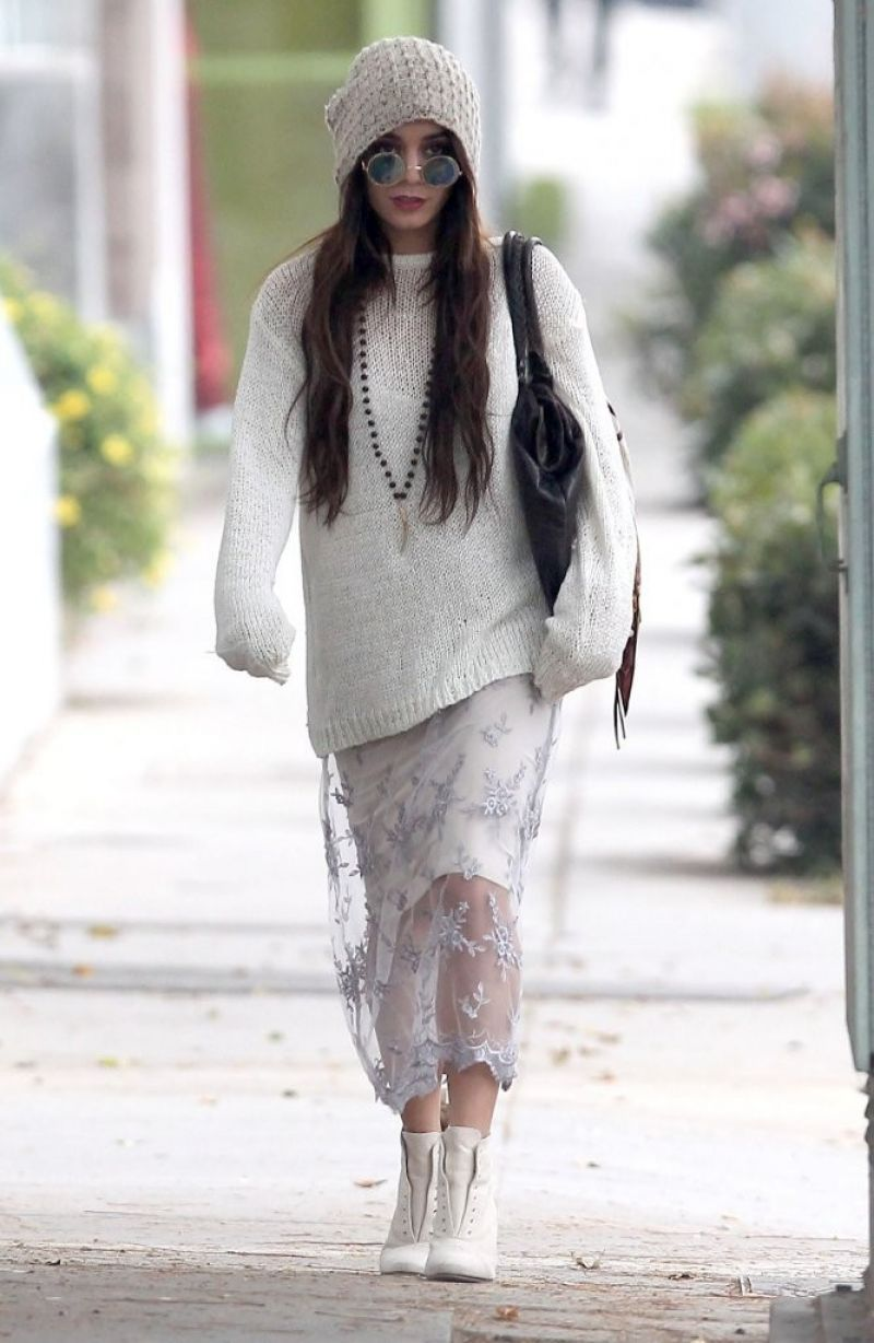 Vanessa Hudgens Street Style Shopping In Beverly Hills January 2014