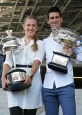 Victoria Azarenka and Novak Djokovic