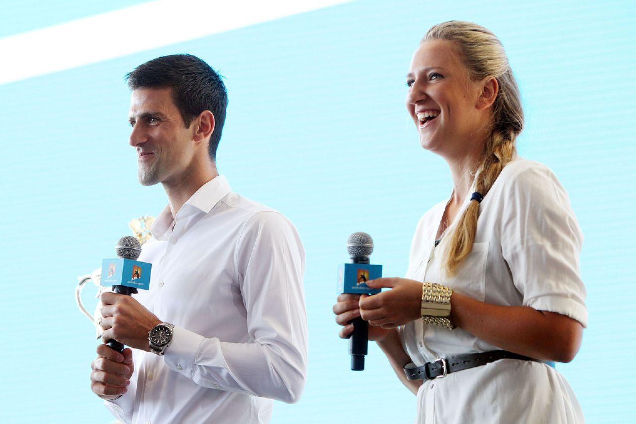 Victoria Azarenka And Novak Djokovic 2014 Australian