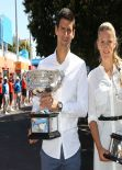 Victoria Azarenka and Novak Djokovic - 2014 Australian Open Official Draw in Melbourne