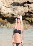 Victoria Silvstedt Bikini Candids - St. Barts - January 11, 2014