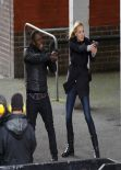 Yvonne Strahovski - 24: LIVE ANOTHER DAY Day Set Photos - London, January 2014