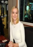 Yvonne Strahovski at SiriusXM Studio in New York, January 2014