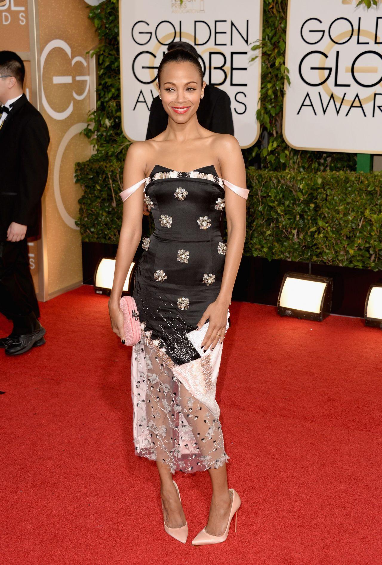 Zoe Saldana at 71st Annual Golden Globe Awards (2014)