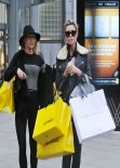 Abbey Clancy, Natalie Lowe & Iveta Lukosiute - Shopping in Manchester, February 2014